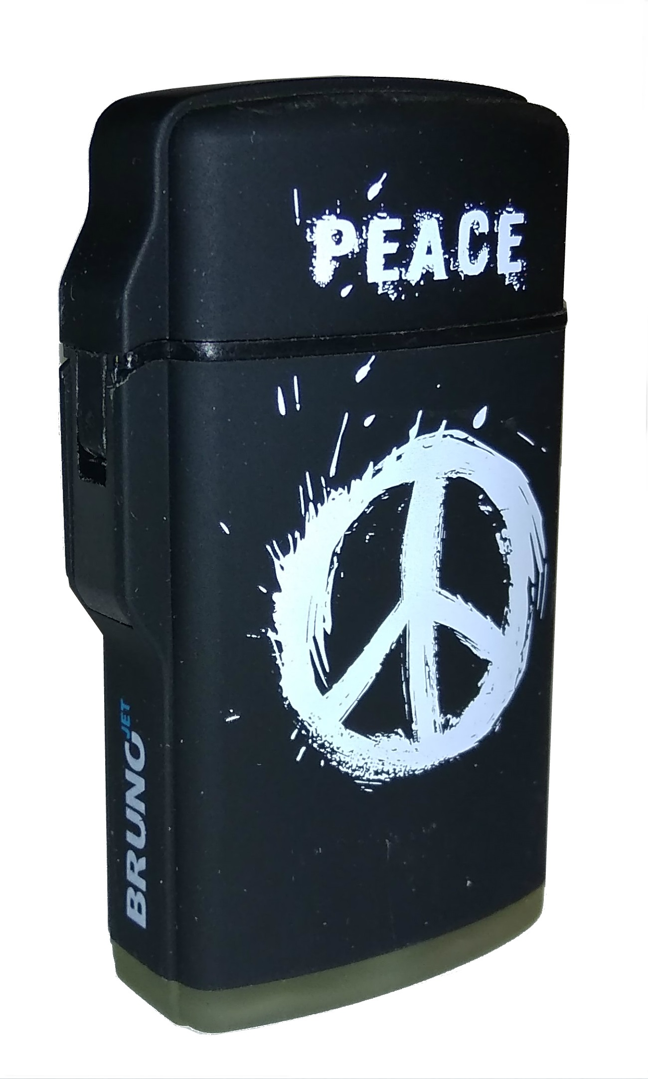 Турбозажигалка BrunoJet Rubberized black Peace  (Черный)