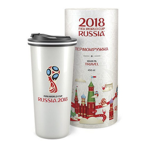 Термокружка FlameClub Travel Auto 450ml Russian. Фото �2