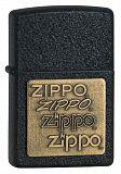 Zippo Brass Embossed Black - туристическое снаряжение в Минске