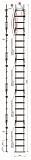 Лестница Техношанс Луско-5-7,35Д диэлектрическая для опор ВЛ в условиях повышенной влажности купить в Минске в магазине Робинзон