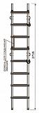 Лестница Техношанс Луск-2-2,7 диэлектрическая купить в Минске в магазине Робинзон