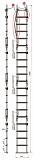 Лестница Техношанс Луско-4-6,4Д диэлектрическая для опор ВЛ в условиях повышенной влажности купить в Минске в магазине Робинзон
